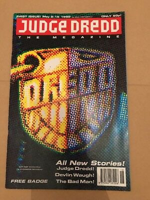 Judge Dredd The Magazine First Issue May 2nd - 15th Fortnightly 1992