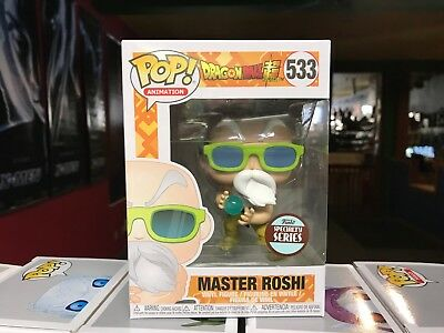 2018 Funko POP! Dragon Ball Z Specialty Series MASTER ROSHI #533 Figure NIB
