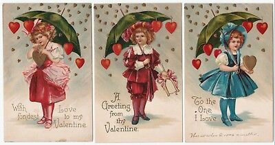 SUPER Series Set - Valentine's Day Postcards - 1909 Ellen Clapsaddle Series 952