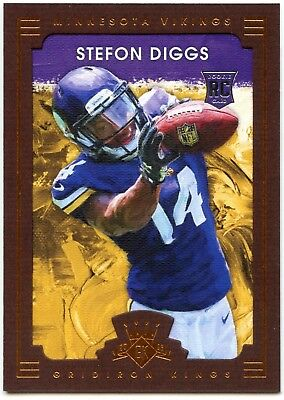 S. Diggs #125 Gridiron Kings 2015 Panini NFL Brown Framed RC Parallel Card C2364