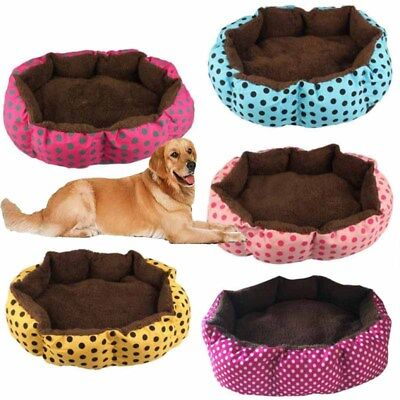 Pet Kennel Flannel Warm Pet Bed Puppy Dog Cat Kitten House Cozy Nest Mats Pads