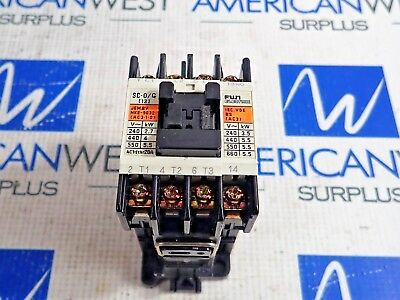 Fuji Electric 4Gcofo Type Sc-O/G Contactor Type 24V Coil 3Ph 5Hp