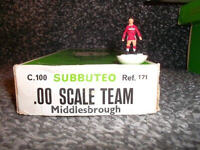 Subbuteo H/w Team.   Middlesbrough Ref 171  In Very  Good  Condition