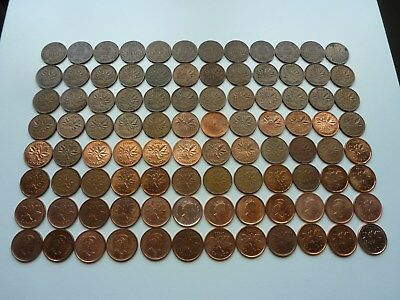 Collection 1 Cent 1920-2012 Canada... Lot 96 Coins...