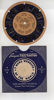 Blue Ring Viewmaster #272 Maine Seacoast York To Porpoise, Hand Lettered
