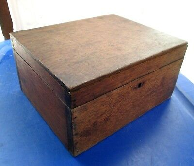 Antique Solid Wood Jewelry Box w/Removable Tray