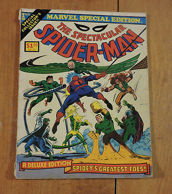 Marvel Special Edition the Spectacular Spider-Man #1 Treasury 1975 G/VG