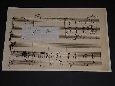 Henry Litolff Pianiste Virtuose (1818-1891) Partition Musicale Autographe Signee