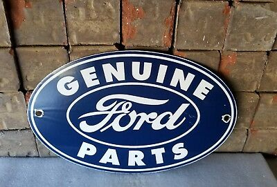 Vintage Ford Motor Company Porcelain Gas Auto Service Station Pump Plate Sign