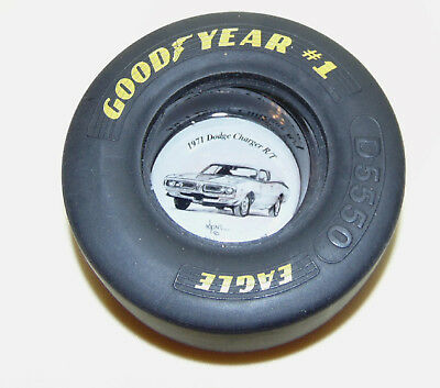 1971 Dodge Charger R/T Rubber Tire Goodyear Eagle Ashtray Adkins Ash Tray D5550