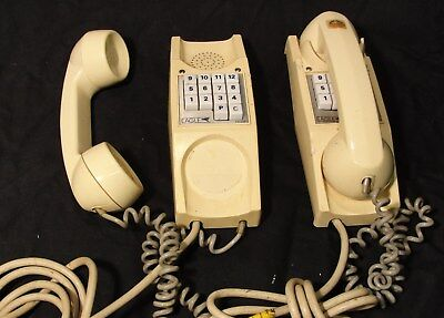 MATCHED PAIR of VINTAGE TELEPHONES in CREAM in nice original condt