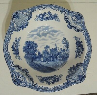 """""""old Britain Castles"""" In Flow Blue Style Johnson Bros. English Bone China"""