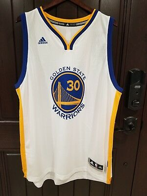 5cee9d21169f Adidas NBA Steph Curry Golden State Warriors 30 Authentic Jersey NWT Mens  2XL