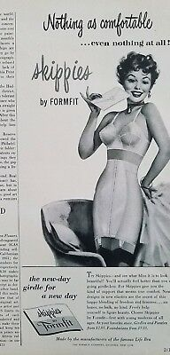 1954 women's Skippies by Formfit girdle bra nothing as comfortable ad