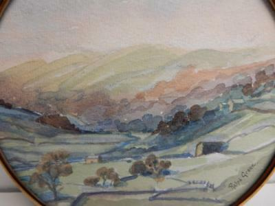 old PAINTING water colour  landscape signed RALPH GREEN