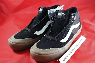 fc200ed6c19b7c NIB VANS STYLE 112 MID PRO Black White Gum Ultracush Skate Shoes SZ Men s  7.5