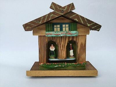 Vintage German Black Forest Wooden Cottage House Barometer Collectors item