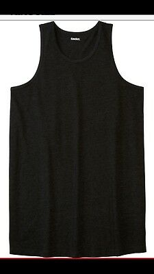 Big Mens KingSize Heather Charcoal Dark Gray 7XL Tank Top New
