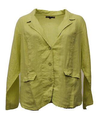 SUNSHINE FLAX LINEN BUTTONED BEACHCOMBER CARDI OYSTER WASHED BEIGE PLUS SIZE 2G