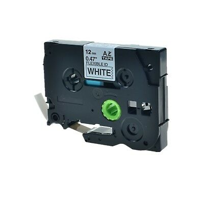 """1PK TZFX231 TZeFX231 Black on White Label Tape For Brother P-Touch 1/2"""" 12mm"""