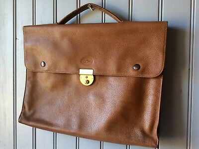 cartable LONGCHAMPS cuir camel graine .TBE.(/T/GO)