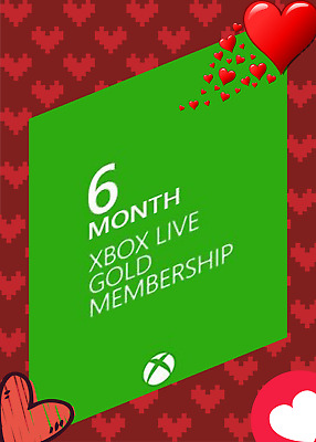 6-Months Xbox Live GOLD Membership Subscription 🔥 Hot Sales 🔥 Worldwide
