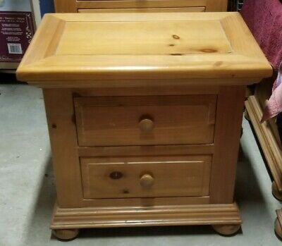 Estate Broyhill Fontana Solid Pine Wood Nightstand Honey Great Condition 100 00 Picclick