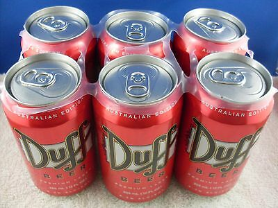 Duff the Simpsons Beer 6 pack Unopened top (empty)  Collectible Man Cave Item
