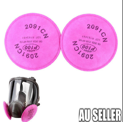 2pc/4pc/10pc 3M 2091 particulate filter P100 for 6000, 7000 series respirator