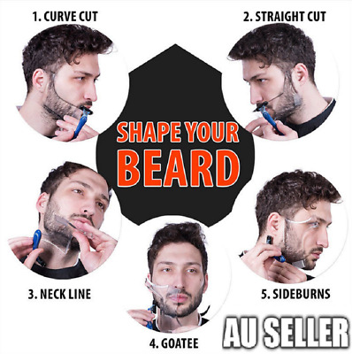 Men Beard Comb Modeler Styling Template Shaper Shaping Tool Hair Stencil 2019