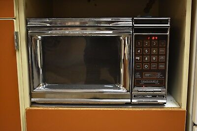 Vintage Amana Radarange Touchmatic Microwave Model RR-9TA With Cookbook
