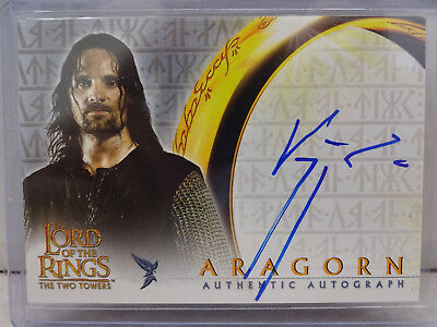 2002 Topps Lord of the Rings: The Two Towers Viggo Mortensen as Aragorn Auto