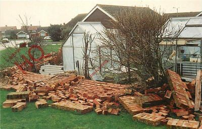 Picture Postcard; Burns Day Storm 1990, Damage In Durrington