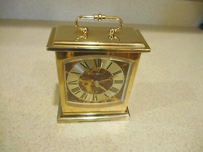 HOWARD MILLER Brass Carriage Clock 612737 Westminster Electronic Chime
