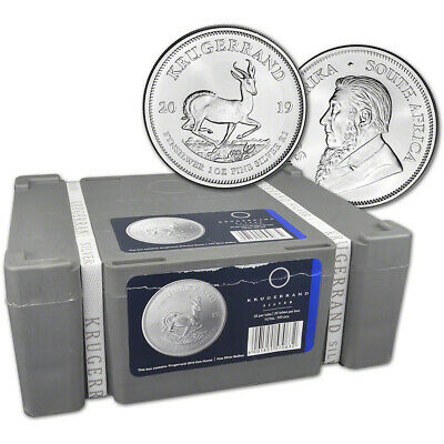 2019 South Africa Silver Krugerrand 1 oz 1 Rand - BU Sealed 500 Coin Box