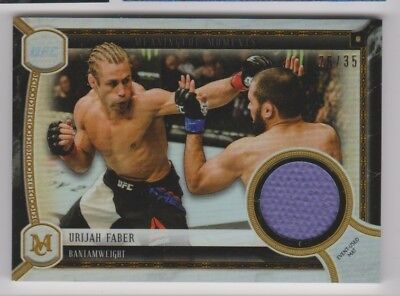 2018 Topps Ufc Museum Collection Meaningful Moments Relic /35 Urijah Faber