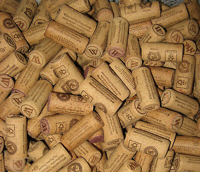 "135 Identical with ""W"" Used Fine Natural Wine Corks  Crafts No Synthetics"