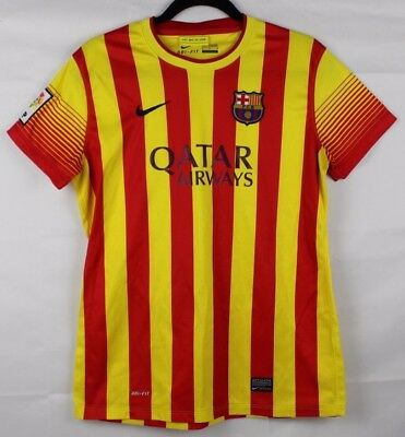 babb66548bd Nike Authentic Qatar Airways Barcelona FCB Away soccer jersey size youth M