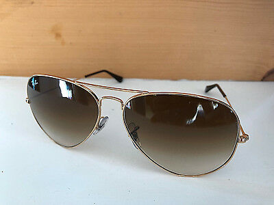 c3bbc595afdc2 Nice Ray-Ban Aviator Sunglasses Gold Frames   Brown Gradient Lens RB3025 001  51