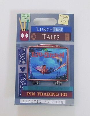 Disney Parks Lunch Time Tales Lilo & Stitch Hinge Pin Limited of 1500
