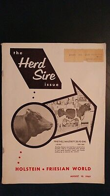 Holstein World 1969 Herd Sire Issue + Winterthur Farms Story +E-L-V Apache Ranch