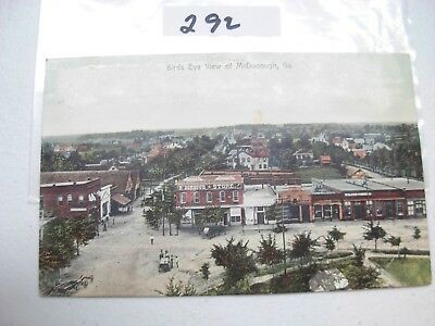 Postcard Georgia, Mcdonough,bird's Eye View 1909 Damage On Back  #292