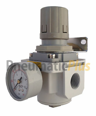 "FactoryDirect Air Regulator 1/2"" NPT (High Flow) with Gauge & Bracket"