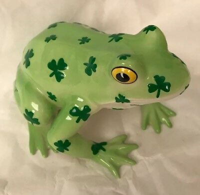 """Fanciful Frogs """"Toad-ally Lucky"""" Ceramic Frog Figurine"""