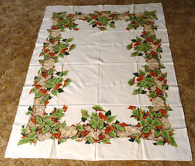 Lovely Vintage New Old Stock Cotton California Calaprint Tablecloth 65x53 (6907)