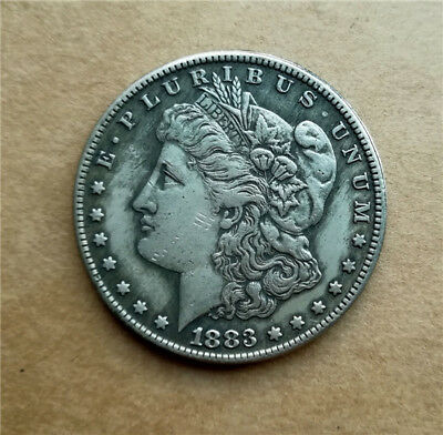 Copper Collections coin Antique Silver plated Commemorative Coin 1883-o