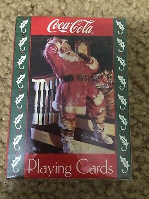 Collectible Coca Cola Playing Cards 1993 New In Package Santa Claus holiday