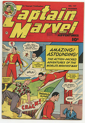 JERRY WEIST ESTATE: CAPTAIN MARVEL #127 (Fawcett 1951) VG+ condition NO RES