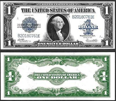 1923 $1~~Large Size ~Silver Certificate Note ~~Crisp Uncirculated~~