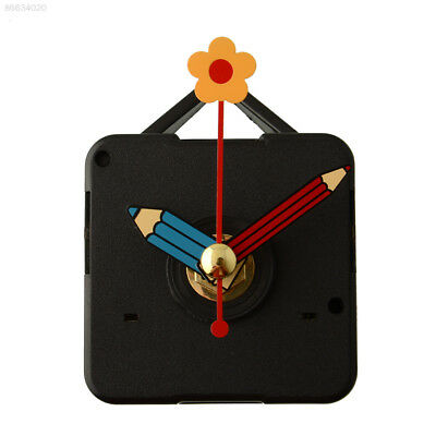 07DB Silence Replacement Clock Movement Repair Parts with Hook Blue Pencil Hands